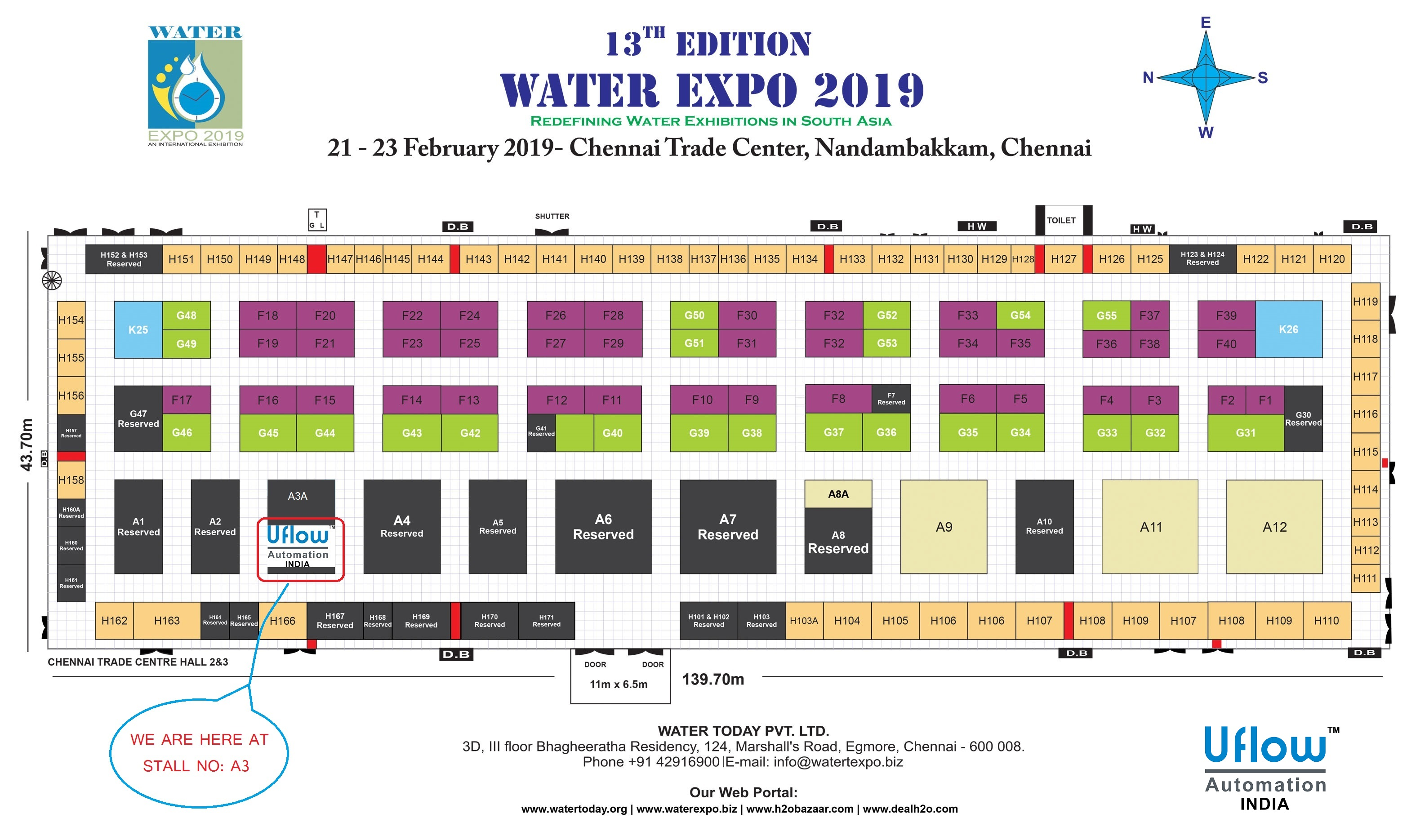 Uflow Automation at Water Today Expo 2019 @Chennai | The 13th Edition Of Water Expo